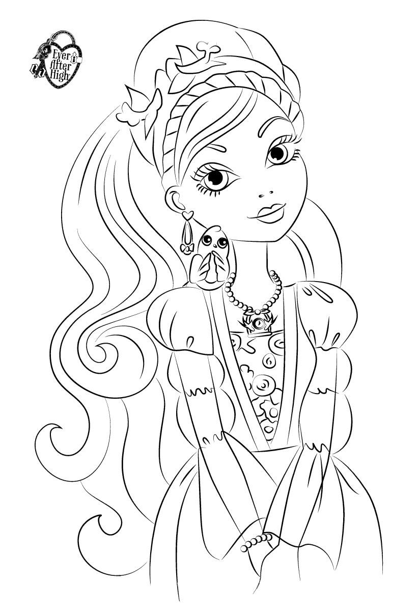 Kara Realm: Ever After High Coloring Pages | 1202x823